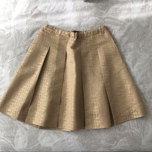 J. Crew Collection gold jacquard skirt